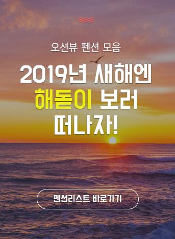 2019년 맞이, 해돋이 펜션 모음